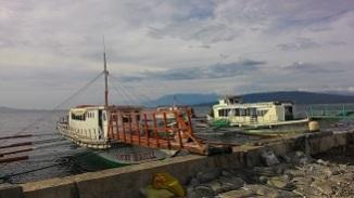 passenger boats at Talaga port